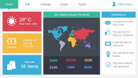 Admin Author At Free Dashboard Templates - Marketing dashboard template free