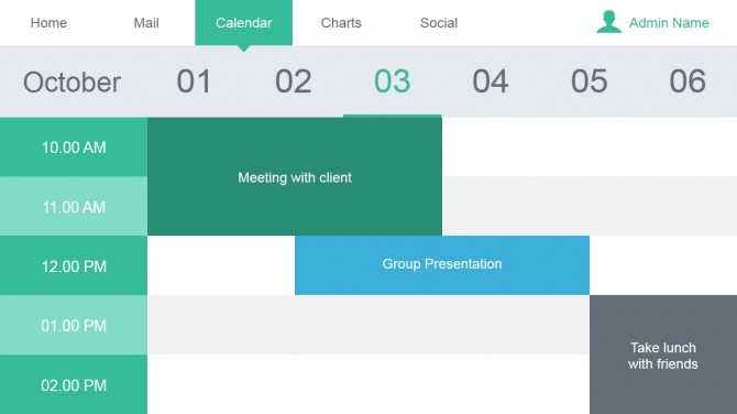 Calendar Slide Design for PowerPoint