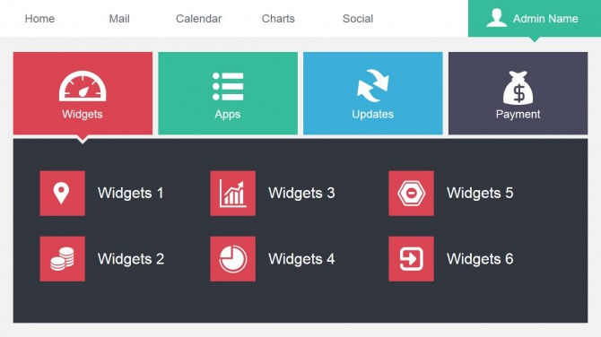 Widget Data Dashboard PowerPoint Slide