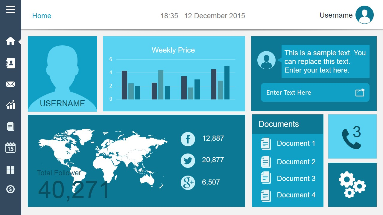 free dashboard templates -, Modern powerpoint