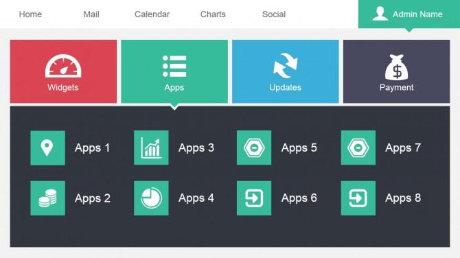 Apps Data Dashboard Slide