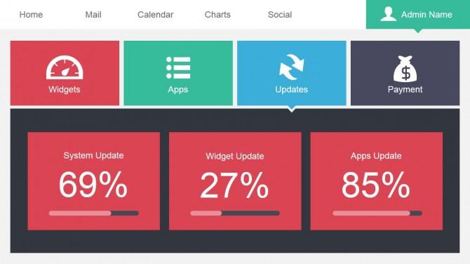 Widget Update App Slide for PowerPoint