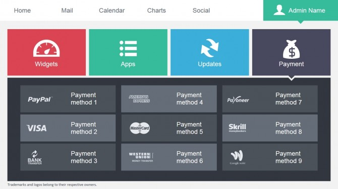 Payment Methods in a PowerPoint Slide