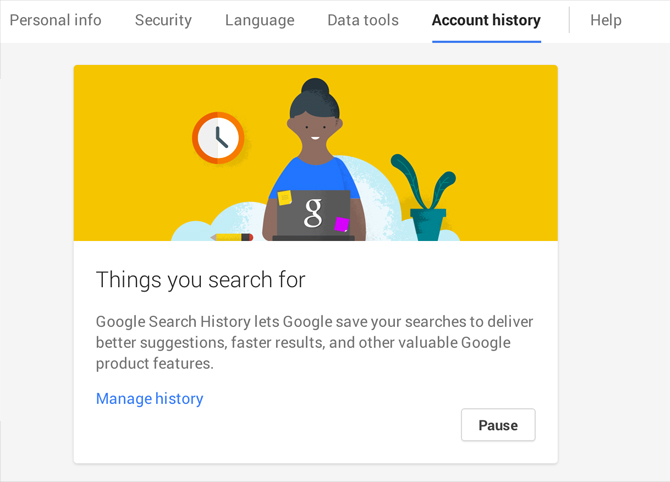 Disable Google Dashboard Search Recording