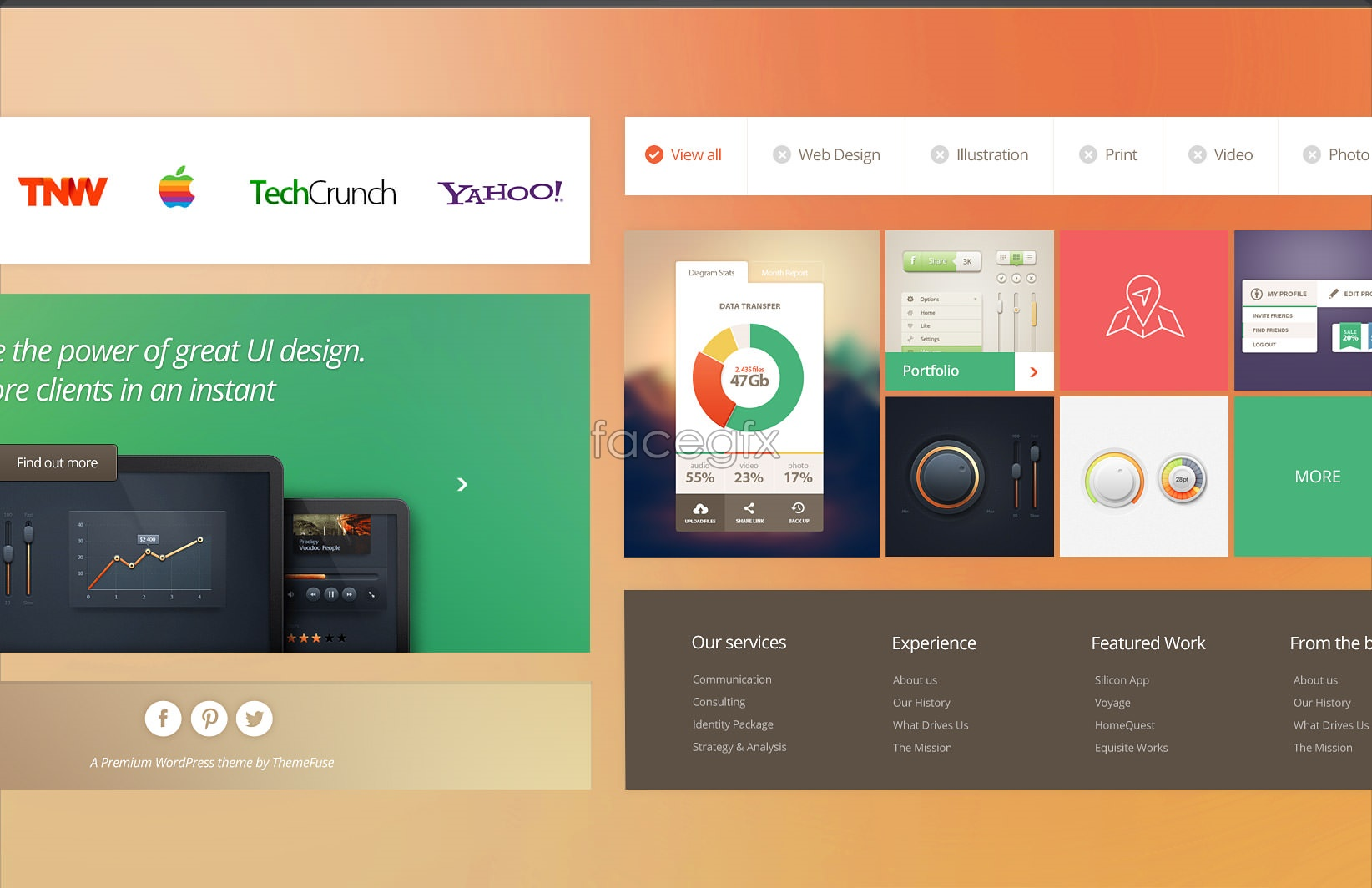 Best Metro UI PSD & PPT Templates - Free Dashboard Templates