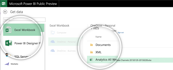 Power BI Excel Data Source